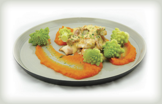 Chicken with chanterelle sauce