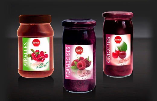 Gamme de fruits rouges Borde